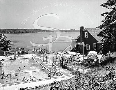 Photograph - Olympia Country Club Pool 1959 by Merle Junk