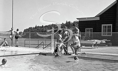Photograph - Olympia Country Club Swimming Pool June 19 1959 by Merle Junk