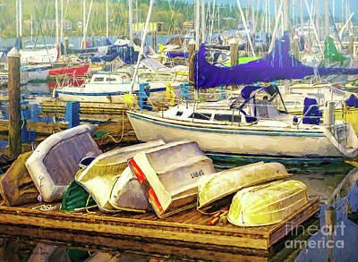 Photograph - Olympia Marina Boats by Jean OKeeffe Macro Abundance Art