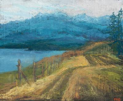 Painting - Olympia Mountains by Marlene Kingman