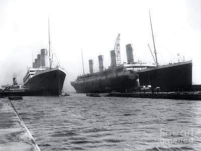 Titanic Photograph - Olympic And Titanic by The Titanic Project