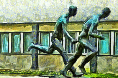 Athletes Digital Art - Olympic Athletes - Da by Leonardo Digenio