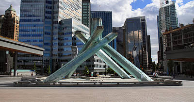 Olympic Cauldron Vancouver Canada Art Print by Pierre Leclerc Photography