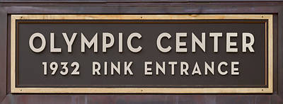Olympic Hockey Photograph - Olympic Center 1932 Rink Entrance by Stephen Stookey