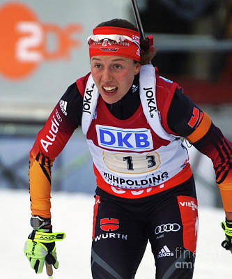 Photograph - olympic champion Laura Dahlmeier by Rudi Prott