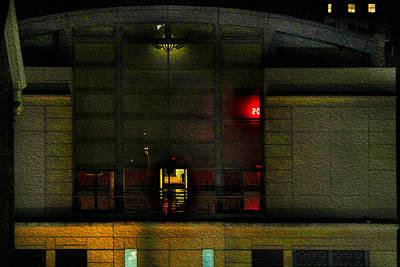 Photograph - Olympic Club At Night by Bonnie Follett