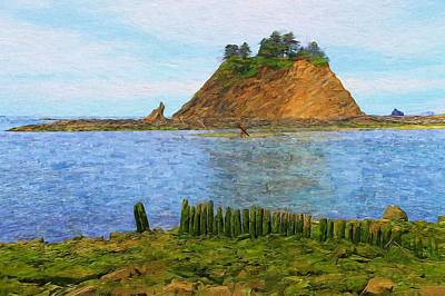 Olympic National Park Painting - Olympic Coast First Beach by Dan Sproul