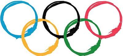 Digital Art - Olympic Ensos by Julie Niemela