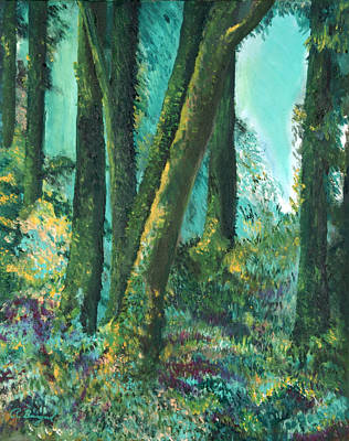 Olympic National Park Painting - Olympic Forest by Richard Beauregard
