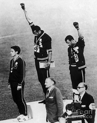 Discrimination Photograph - Olympic Games, 1968 by Granger