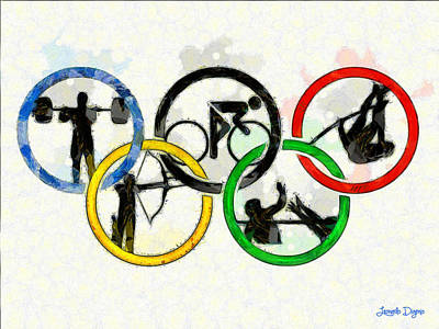 Greek Painting - Olympic Games - Pa by Leonardo Digenio