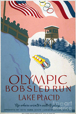 Bobsled Photograph - Olympic Games Poster by Granger