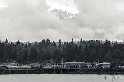 Photograph - Olympic Mountains From Kingston, Wa - 1498,sw by Wally Hampton