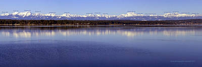 Olympic Mountains Peaks And Elevations Print by Kathy Bauer