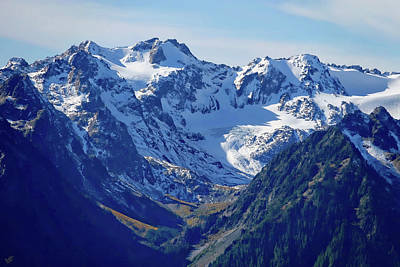 Photograph - Olympic Mountains by Rick Lawler
