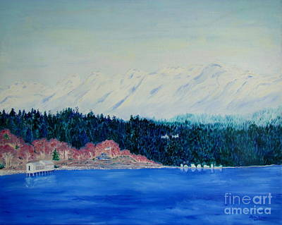 Painting - Olympic Mt And Pugent Sound by Lisa Rose Musselwhite
