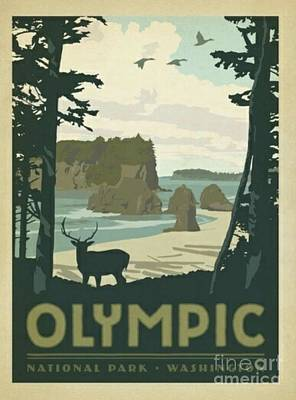 Olympic National Park Mixed Media - Olympic National Park by Blackwater Studio