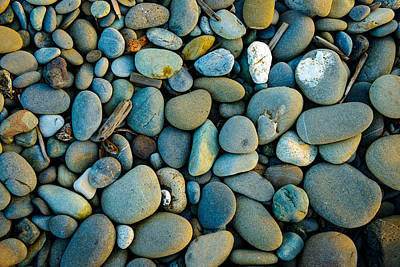 Photograph - Olympic Peninsula Golden Hour Pebbles by Mark Robert Rogers