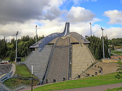 Photograph - Olympic Ski Jump Oslo, Norway  by Allan Levin