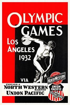 Olympic Games Los Angeles 1932 - Restored Art Print
