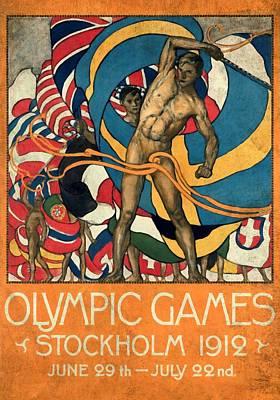 Olympic Games Stockholm 1912 - Vintagelized Art Print