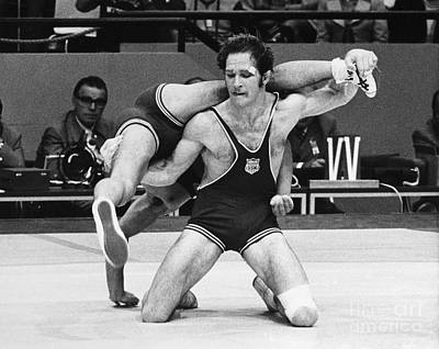 Athlete Photograph - Olympics: Wrestling, 1972 by Granger
