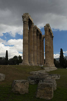 Photograph - Olympieion Ruins In Athens Greece by Radoslav Nedelchev