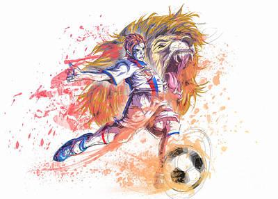 Barcelona Drawing - Olympique Lyonnais by Tuan HollaBack