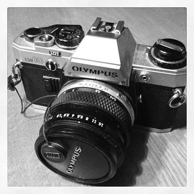 Olympus Om10 Slr Camera Art Print