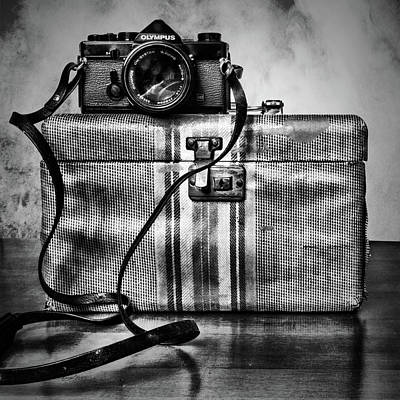 Photograph - Olympus On Top Black And White by Sharon Popek