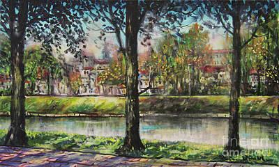 Painting - Olza River I by Dariusz Orszulik