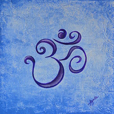 Painting - Om Blue by Agata Lindquist