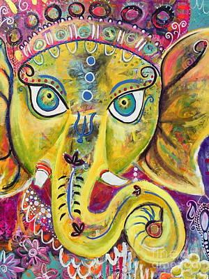 Painting - Om Gam Ganapataye Namaha Ganesh by Kim Heil