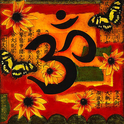 Art Print featuring the mixed media Om by Gloria Rothrock