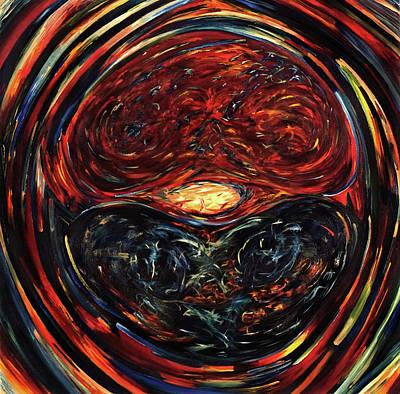 Brain Painting - OM by Gretchen Dreisbach