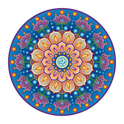 Digital Art - Om Mandala by Jon Munson II