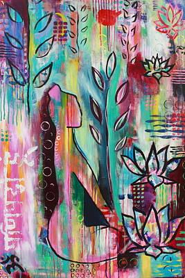 Mani Painting - Om Mani Padme Hum by Kayla Mallen