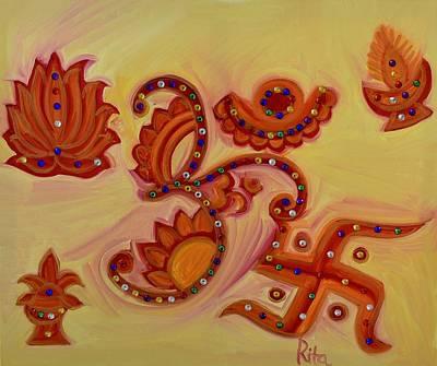 Kalash Painting - Om by Rita Patel