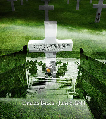 Photograph - Omaha Beach Tribute by Gary Grayson