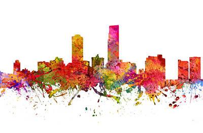 Omaha Digital Art - Omaha Cityscape 08 by Aged Pixel