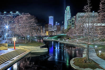 Art Print featuring the photograph Omaha Holiday Lights Festival by Susan Rissi Tregoning