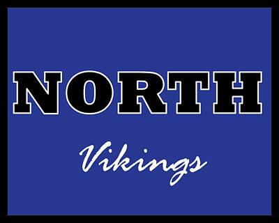 Digital Art - Omaha North Vikings by Brian Moore