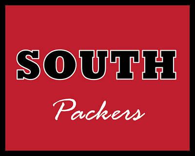 Digital Art - Omaha South Packers by Brian Moore