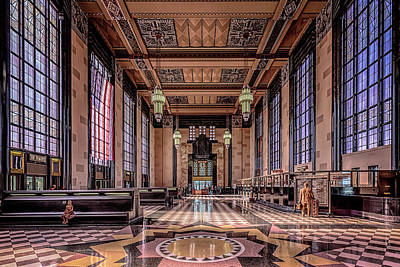 Photograph - Omaha Union Station Great Hall by Susan Rissi Tregoning