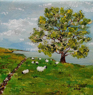 Painting - O'malley's Sheep by Judith Rhue