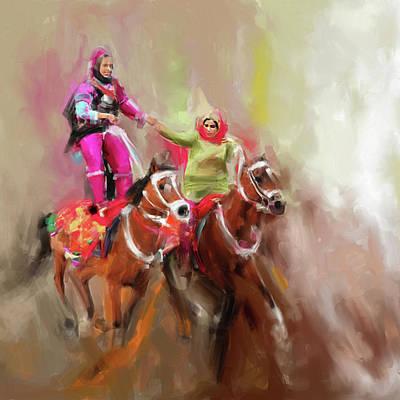 Painting - Omani Royal Women 672 1 by Mawra Tahreem