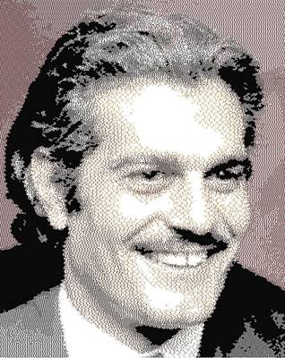 Painting - Omar Sharif - Cross Hatching by Samuel Majcen