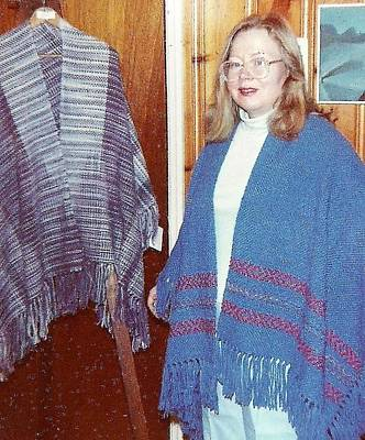 Photograph - Ombre And Blue Cape Shawls by Denise Fulmer