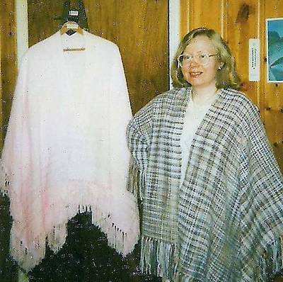 Photograph - Ombre And White Cape Shawls by Denise Fulmer