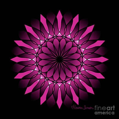 Digital Art - Ombre Pink Flower Mandala by Heather Schaefer